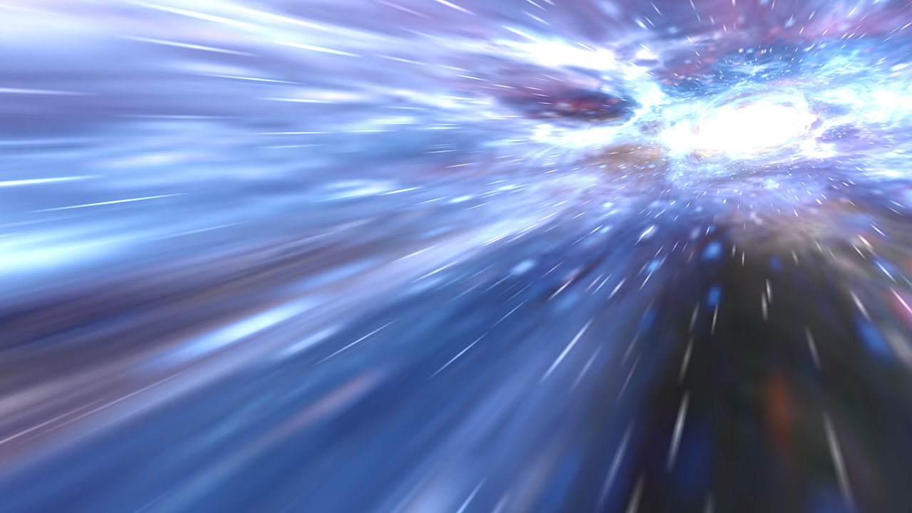 Animate your desktop with the effect of going into hyperspace!