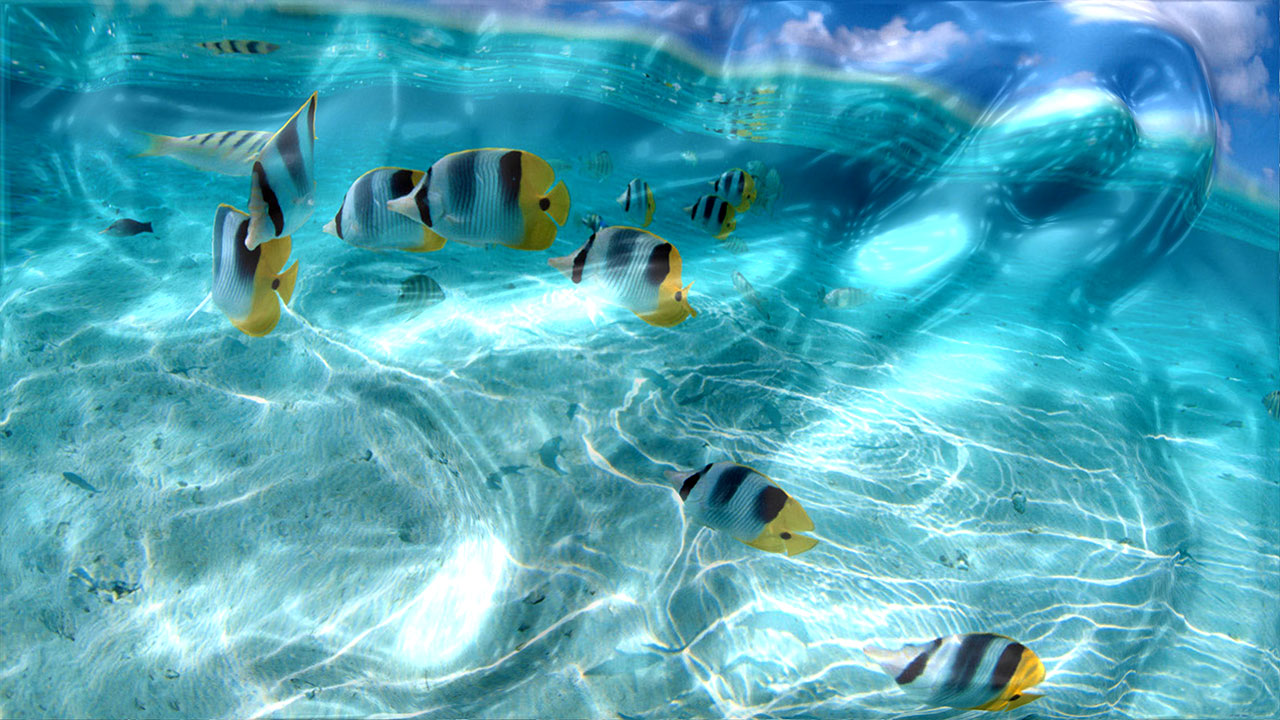 Watery Desktop 3D Screensaver Screen shot